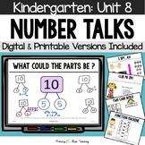 Kindergarten Number Talks ~ Unit 8  (April) DIGITAL and Printable