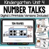 Kindergarten Paperless Number Talks - Unit 4 (DIGITAL and Printable)