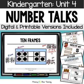 Kindergarten Number Talks ~ December ~ Common Core Aligned