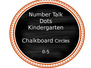 Kindergarten Number Talks Dots  0-5 (slideshow)