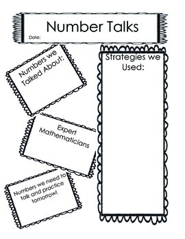 Kindergarten Number Talks Dots in Ten Frames  0-10 (printable)