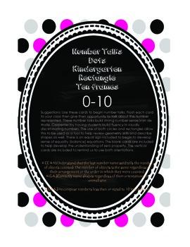Kindergarten Number Talks Dots in Ten Frames  0-10 (printable)