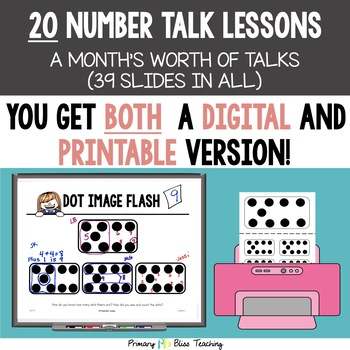 Kindergarten Number Talks ~ January ~ Common Core Aligned