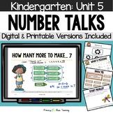 Kindergarten Number Talks ~ Unit 5 (January) DIGITAL and Printable