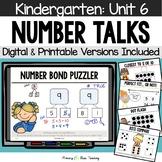 Kindergarten Number Talks ~ Unit 6  (February) DIGITAL and Printable