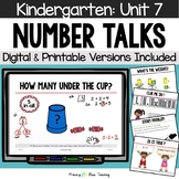 Kindergarten Paperless Number Talks - Unit 7  (DIGITAL and Printable)