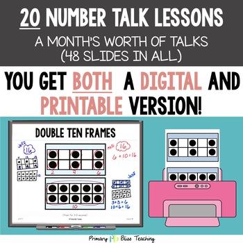 Kindergarten Number Talks ~ May ~ Common Core Aligned