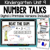Kindergarten Number Talks ~ Unit 9  (May) DIGITAL and Printable