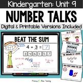 Kindergarten Paperless Number Talks - Unit 9  (DIGITAL and Printable)