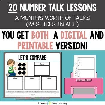 Kindergarten Number Talks ~ November ~ Common Core Aligned