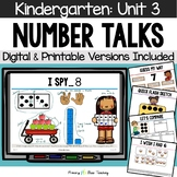 Kindergarten Number Talks ~ Unit 3 (November) DIGITAL and Printable