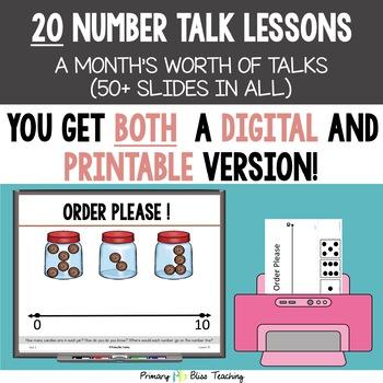 Kindergarten Number Talks ~ October ~ Common Core Aligned