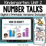 Kindergarten Number Talks ~ Unit 2 (October) DIGITAL and Printable