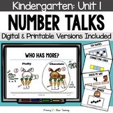 Kindergarten Number Talks ~ Unit 1 (September) DIGITAL and