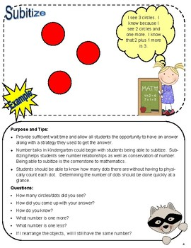 Kindergarten Number Talks:  Year Long Bundle
