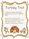 Thanksgiving Turkey Trot Kindergarten Math Game (Counting