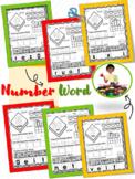 Kindergarten Number Word Cut and Paste