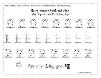 kindergarten number writing practice 0 9 by joann speidel tpt. Black Bedroom Furniture Sets. Home Design Ideas