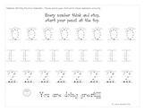 Kindergarten Number Writing Practice 0-9