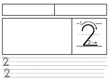 Kindergarten - Number Writing Practice (1-20)