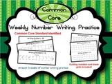 Kindergarten Number Writing Practice {Common Core}