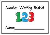 Kindergarten Number Writing Practice Booklet - Printable - Numbers 1-10