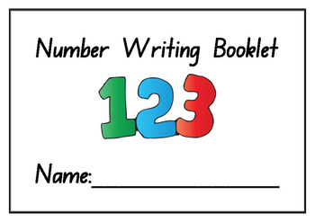 photo about Numbers Printable named Kindergarten Selection Producing Educate Booklet - Printable - Quantities 1-10