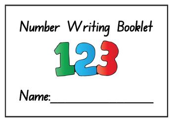 Kindergarten Number Writing Practice Booklet - Printable -