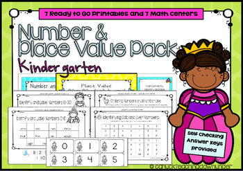 Kindergarten Number and Place Value Pack