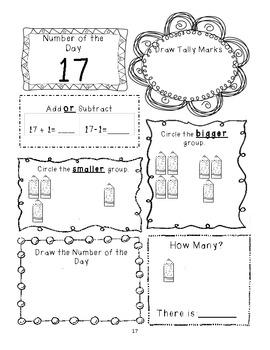 Kindergarten Number of the Day 1 -10