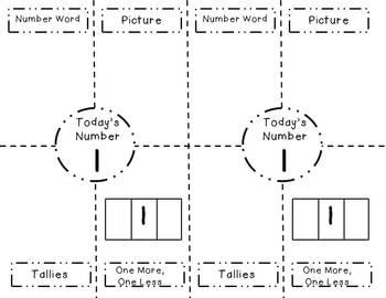 Kindergarten Number of the Day - Numbers 1-20