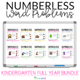 Kindergarten Numberless Word Problems | Addition and Subtr