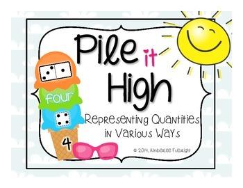 Kindergarten Numbers 0-30 ~ Number Representations ~ Pile It High Ice Cream
