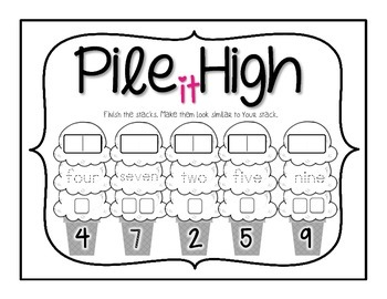 Kindergarten Numbers 0-30 ~ Number Representations ~ Pile It High Ice Cream
