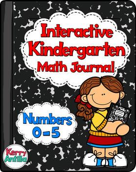 Interactive Kindergarten Math Journal: Numbers 0-5