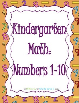 Kindergarten Numbers 1-10 Resource Set