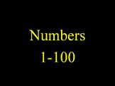 Kindergarten Numbers 1 - 100
