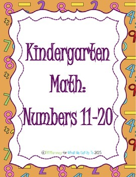 Kindergarten Numbers 11-20 Resource Set