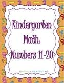 Kindergarten Numbers 11-20 Resource Set