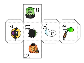 Halloween Math Game - Number Recognition for Pre K and Kindergarten