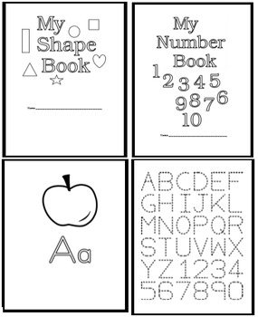 Kindergarten Numbers Coloring Booklet