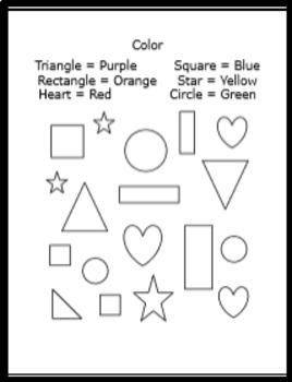Kindergarten Numbers Coloring Booklet