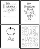 Big Book of Kindergarten, Pre-K Numbers, Shapes, and Alphabet.