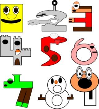 Kindergarten Numbers Crossword