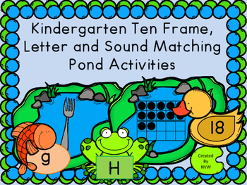 Kindergarten Numbers, Letters and Beginning Sound Matching