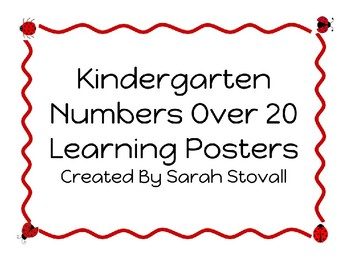 Kindergarten Numbers Over 20 Learning Posters