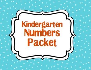 Kindergarten Numbers Packet
