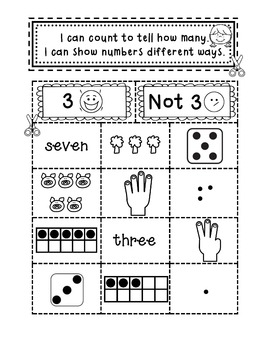 Kindergarten Numbers and Number Sense - Interactive Notebook Activities
