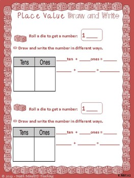 Kindergarten-Numbers in Base Ten and Counting and Cardinality-Dice Games