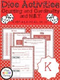 Kindergarten-Numbers in Base Ten and Counting and Cardinality-Dice Games-FREEBIE